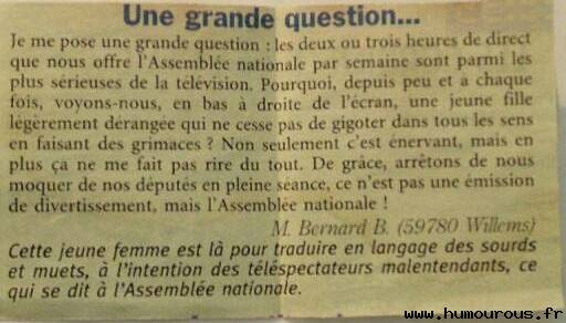 Une grande question
